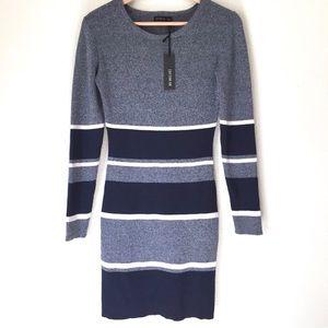 NEW Cotton On striped long sleeve mini dress